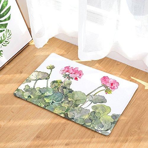 Zokra (TM) Neue Blumen-Druck-Teppiche Anti-Rutsch-K¨¹che Teppiche f¨¹r Heim Wohnzimmer Fussmatten 40x60cm 50x80cm [5-40x60cm]