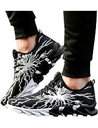 JiaMeng para Caminar, Moda Zapatos De Running Deportivas para Correr Hombre Ocio Aire Libre relámpago Zapatos para Correr Zapatos de Ocio Calzado Deportivo Transpirable