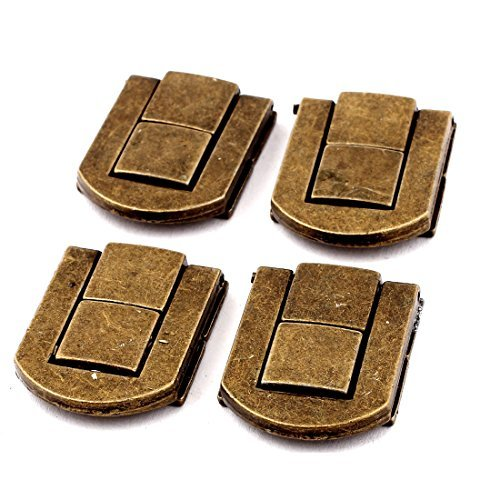 al Cases Cabinet Drawbolt Closure Latch Bronze Tone 4PCS ()