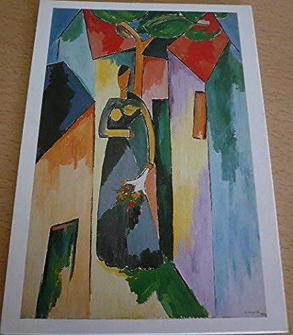 Alberto MAGNELLI - La femme au bouquet - 10x15 cm CARTE POSTALE