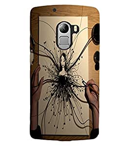 ColourCraft Creative Art Design Back Case Cover for LENOVO A7010