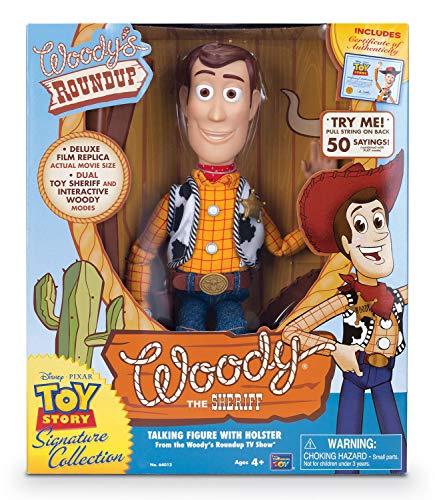MTW Toys 64012 Actionfigur zu Disney Pixar Toy Story-Interaktive Spielfigur Sheriff Woody Collector Edition mit Deutscher Sprache, ca. 40 cm, bunt (Toy Story Woody Shirt)