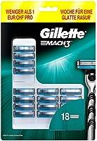 Gillette Mach3 scheermesjes voor mannen, 18 stuks