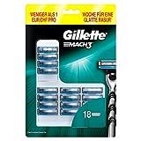 Gillette Mach3 - Lamette per rasoio da uomo, 18 pezzi