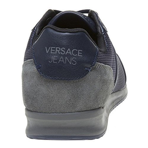 Versace Jeans Wing Cap Homme Baskets Mode Bleu blue