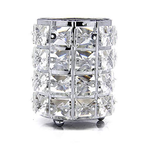 VINCIGANT Kristall Make-up Pinselhalter Kosmetikorganiser, Silber 9 * 12cm