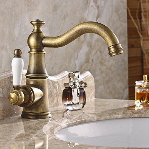 hiendurer-ottone-ponte-montato-monocomando-alta-arco-rubinetto-lavabo-bagno-cucina-maniglia-di-ceram