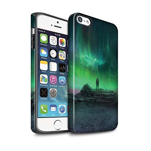 Offiziell Chris Cold Hülle / Matte Harten Stoßfest Case für Apple iPhone SE / Pack 12pcs Muster / Fremden Welt Kosmos Kollektion Polarlicht