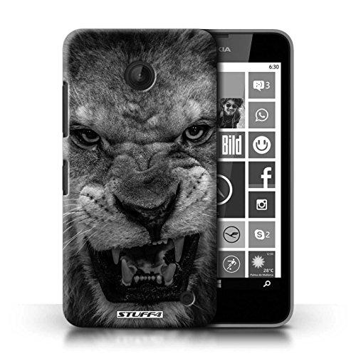 Kobalt® Imprimé Etui / Coque pour Nokia Lumia 635 / Grenouille conception / Série Animaux de zoo Lion