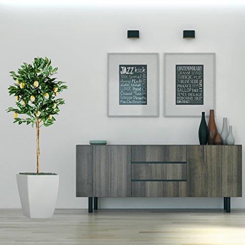 Zitronenbaum Kunstpflanze mit Echtholzstamm und Zitronen Kunstbaum – 184 cm groß - 5