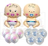 #4: Themez Only Balloon Junction Baby Shower Decoration combo-7 with transparent printed balloons