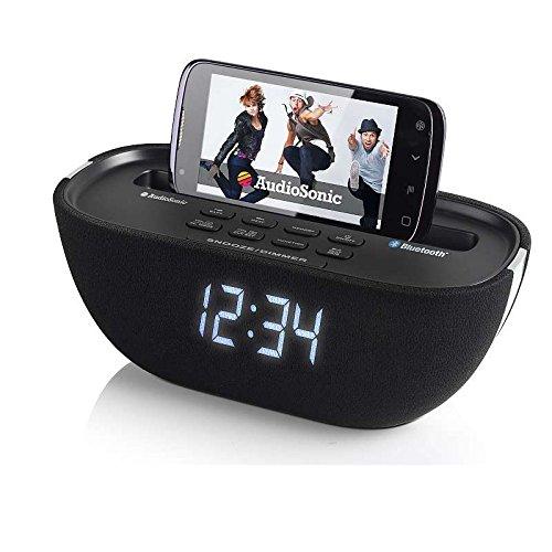 Bluetooth Radio-Wecker mit USB-Anschluss (Snooze-Taste, AUX-IN, PLL-Tuner, Uhrenradio)