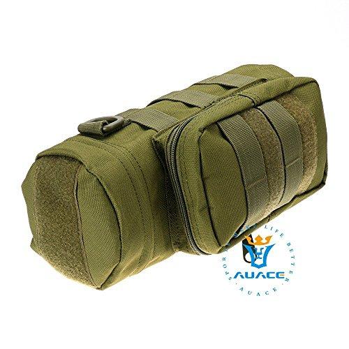 Multifunzione sopravvivenza Gear Pouch Tattico Molle Pouch Zipper Borraccia Pouch, campeggio portatile Pouch Bag Borse attrezzi Pouch Custodia da viaggio, OD OD