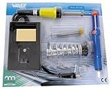 Saldatore a stagno, alimentazione 230V, potenza 30W, include supporto saldatore, succhiastagno, stagno