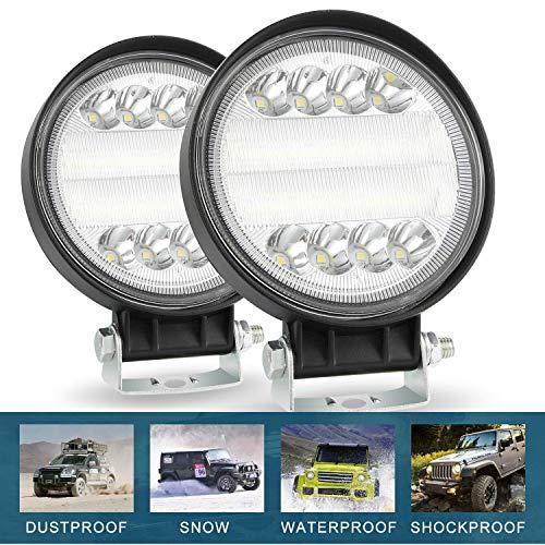 CICMOD 2× 72W Faro da Lavoro LED Auto 4'' 6000K 7200lm 12V 24V Luce Fari LED IP67 Impermeabile LED Luci Fuoristrada per off-Road Moto SUV ATV UTV Camion Peschereccio