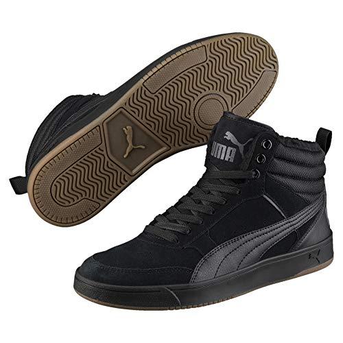 Puma Unisex-Erwachsene Rebound Street V2 SD FUR Hohe Sneaker, Schwarz Black-Iron Gate 01, 43 EU