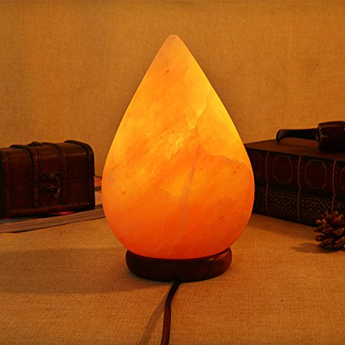 Salzlampe, Himalaya-kristall-salz-lampe, Wasser Tropfen Typ Warme Schlafzimmer Lampe 15x24cm pro