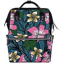 Bolsa de pañales de gran capacidad, mochila para el cuidado del bebé, con diseño