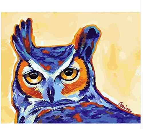 MSCLY Eule Tier Malerei Nummer EIN Gutes Geschenk Für Die Familie Digitale Ölgemälde Wohnkultur Wandkunst Für Wohnzimmer Zeichnung Von Zahlen