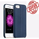 BlueInk Joe Series Usams Premium Ultra Slim Litchi Pattern Leather Back Case Cover for iPhone 7 Plus (Blue)