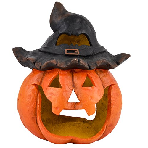 Dadeldo Living & Lifestyle Kürbis Deko Objekt Herbst Halloween Clayfibre 40x35x27cm orange Grusel