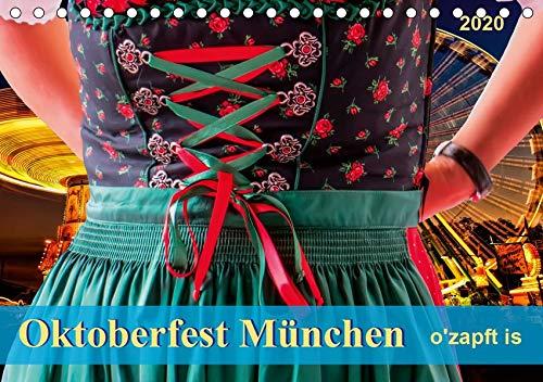 Oktoberfest München - o'zapft is (Tischkalender 2020 DIN A5 quer): Jedes Jahr zieht es rund sechs Millionen Besucher auf das größte Volksfest der Welt. (Monatskalender, 14 Seiten ) (CALVENDO Spass) (Trachten Der Welt)