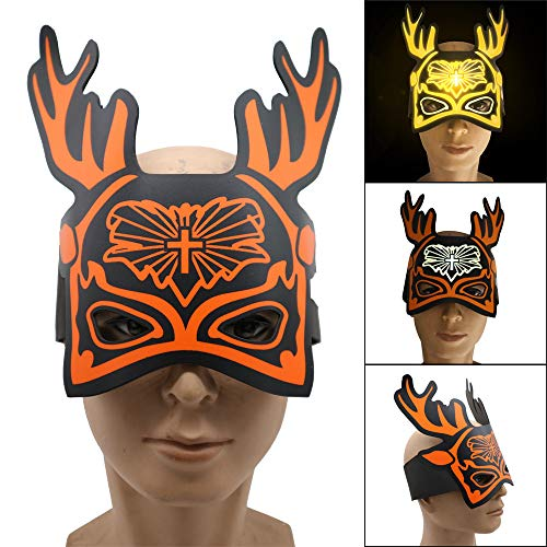(TianranRT Weihnachten Hirsch Version Led Ton Reaktiv LED Musik Licht Up Einstellbar Maske Spielzeug)