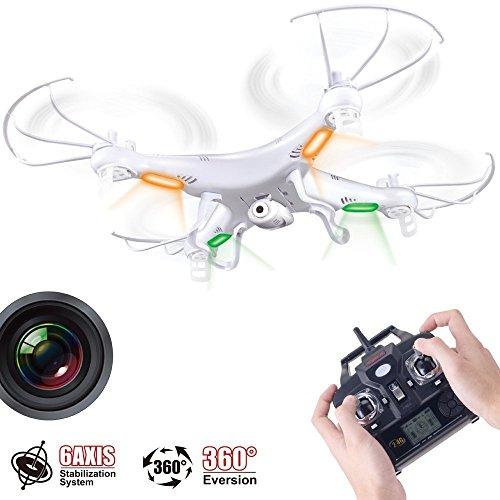 Preisvergleich Produktbild SYMA X5C 2MP HD FPV Kamera 2.4GHz 4CH 6Axis RC Hubschrauber Quadrocopter Kreiselkompaß 2GB TF Karte