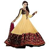 Livaaz Womens Georgette Anarkali Dress M...