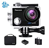 Sport Cam,Deecam Action Cam 4K Ultra HD 16 MP Action Kamera WIFI Unterwasserkamera mit 2* Akkus...
