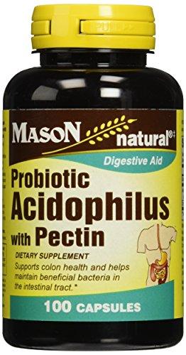 Mason Natural Acidophilus with Pectin Capsules, Digestive Aid - 100