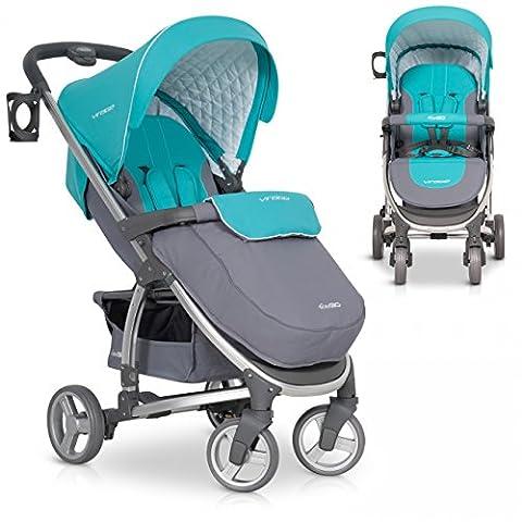 Buggy VIRAGE Alu Sport Kinderwagen für Baby ab 1. Monat - Zusammenklappbar und mit Liegefunktion - Malachit grün