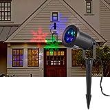 Han Lucky Star LED Lichteffekt Projektor Licht mit Schneeflocken Muster wasserdicht Mauer Dekoration Party Licht für Geburtstag Hochzeit Weihnachten Kindertag (Bunt)