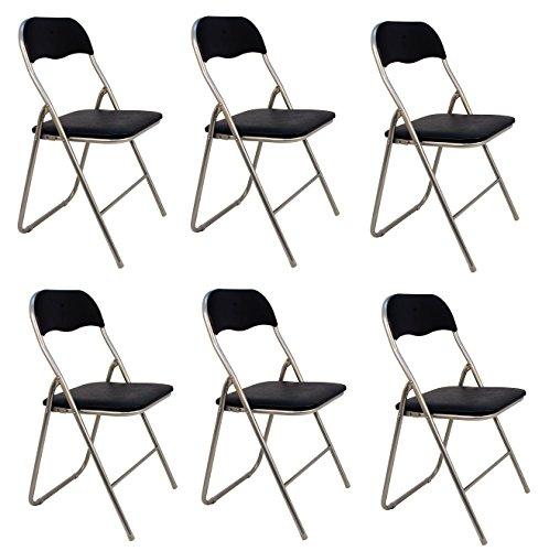 La Silla Española - Pack 6 Sillas plegables de aluminio con asiento...
