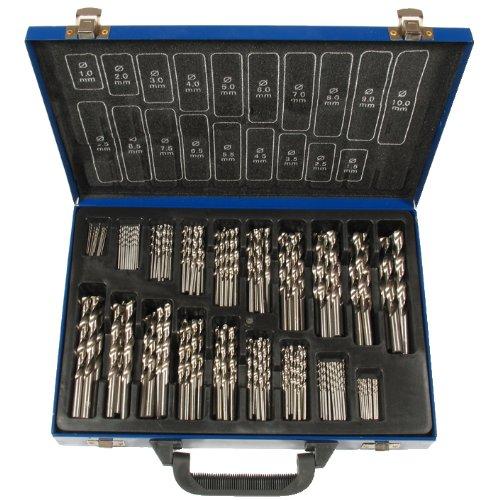 HSS-Spiralbohrer-Satz, 170-tlg. rollgewalzt, Kanten geschliffen gefertigt nach DIN 338 (1-10 mm)