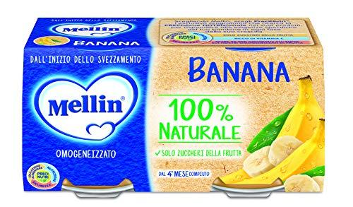 Mellin omogeneizzato di frutta banana 100% naturale - 24 vasetti da 100 gr