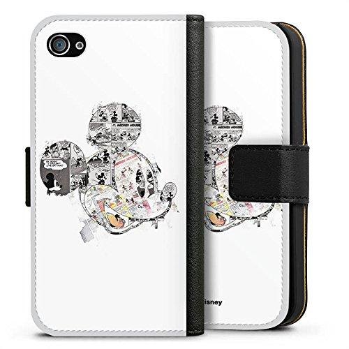 Apple iPhone SE Hülle Case Handyhülle Disney Mickey Mouse Merchandise Geschenke Sideflip Tasche schwarz