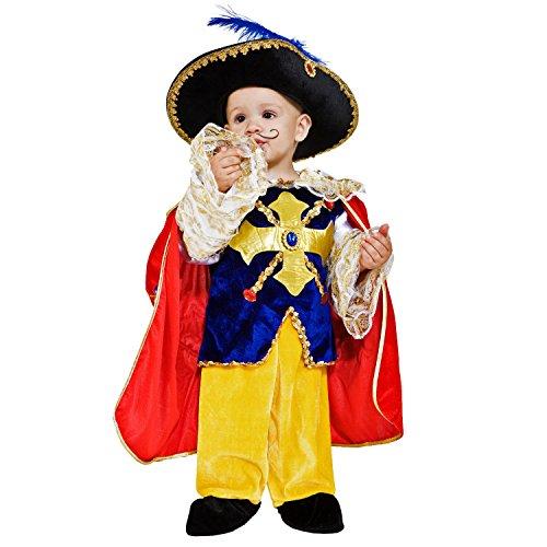 Krause & Sohn Kinderkostüm Musketier Aramis D'Artagnan Frankreich Edelmann Ritter Fasching Karneval königliche Garde (92) (Ritter-kostüm Für Kleinkind)