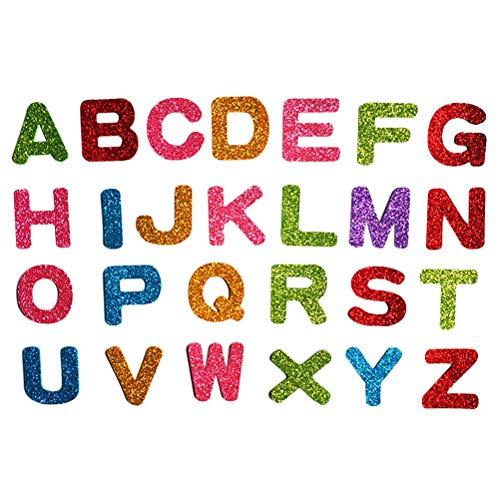 6 Buchstaben Sticker Glitzer Aufkleber Schaumstoff Türaufkleber Selbstklebend für Kinder Wand DIY ()