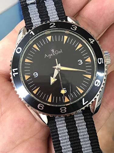 WDXDP Uhr Neue Automatische Mechanische Transparente Uhr Glas Zurück Mens Canvas Stoff Gürtel Chronometer UhrenLeinwand