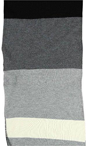 Passigatti Cape avec rayures, 105x 140cm Noir