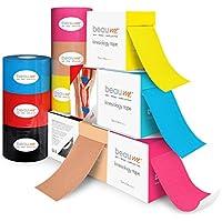 BEAUME® Kinesiologie Tape, 5cm x 5m, mit wellenförmiger Acrylkleber-Beschichtung, wasserfest, reißfest, atmungsaktiv... preisvergleich bei billige-tabletten.eu