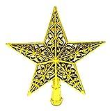 EOZY Weihnachtsbaum Stern Weihnachtsbaumspitze Weihnachten Deko Baumschmuck 20cm Gold