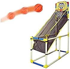 PLAYHOOD Wonder Shot Basket Ball and Air Pump Set for Kids (Multicolour)