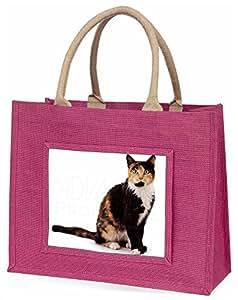 Advanta Schildpatt Cat Große Einkaufstasche/Weihnachtsgeschenk, Jute, pink, 42x 34,5x 2cm