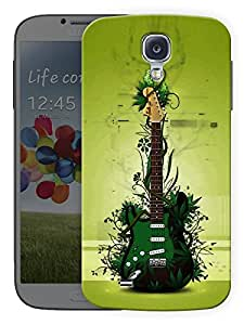 """Humor Gang Green Eco Friendly Guitar - Music Printed Designer Mobile Back Cover For """"Samsung Galaxy S4"""" (3D, Matte Finish, Premium Quality, Protective Snap On Slim Hard Phone Case, Multi Color)"""