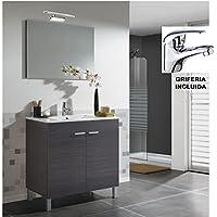 Hogar Decora BAÑO Completo, Mueble con Espejo + Grifo + Lampara LED + Lavabo de PMMA (Novedad - No Clásica Cerámica) - mueblesdebanoprecios.eu - Comparador de precios