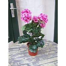 60cm ca Künstliche Geranienranke rote Blüten