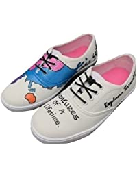 ffde08d16 FUNKY N TRENDY World Map Handpainted Waterproof Canvas Casual Shoes