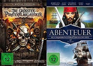 15 Filme Die großen Piraten Abenteuer Klassiker - Gegen alle Flaggen + Der scharlachrote Pirat + Robinson Crusoe + Die Schatzin